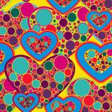 Hippie love texture