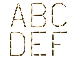 Rifle ammo font