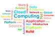 Cloud computing concept design - word cloud