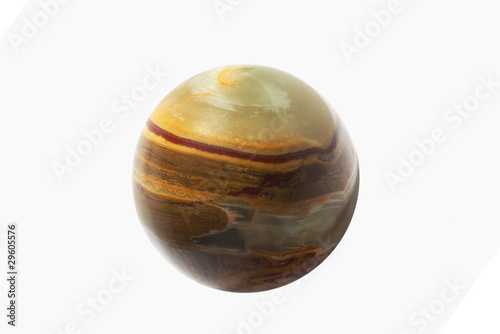 Beaming onyx  ball isolated over white background