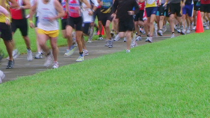 Runners Starting Race