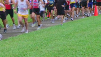 Runners Starting Race
