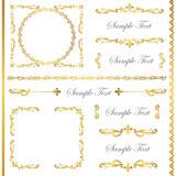 gold frame set