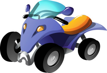 Cartoon quadracycle