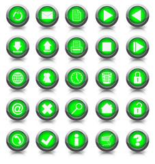 Buttonset 25 Stück grün