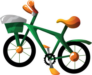 Cartoon bike