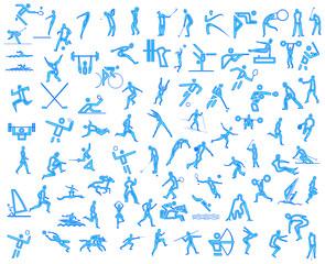 sport icons neon