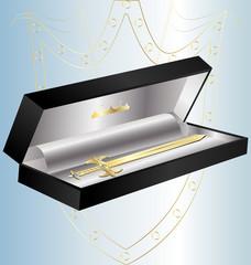 gift golden sword