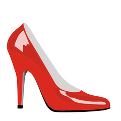 Highheels in rot