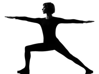virabhadrasana 2 warrior postion yoga woman