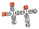 Phishing Crime Crossword poster