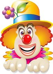 Pagliaccio Faccia-Maschera-Carnival Clown's Face-Vector