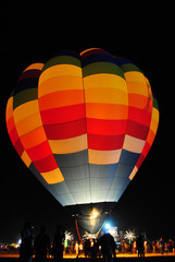 night shot for hot air balloon.