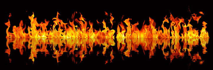 Long fire reflection