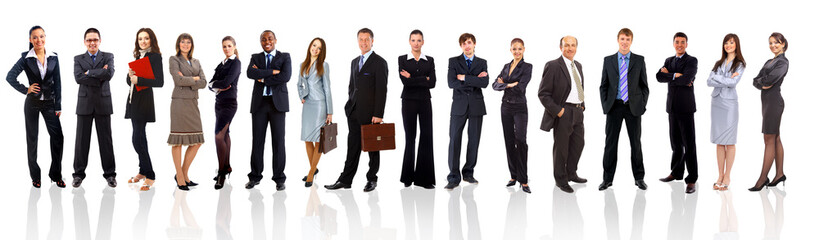 Young attractive business people - the elite business team