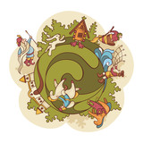 fairytale world composition poster
