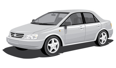 Vector isolated modern car, without gradients