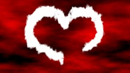 heart made of smoke
