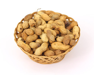 Basket of Hard Shell Peanuts