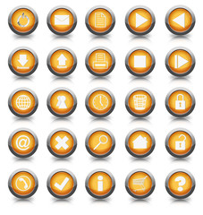 Buttonset 25 Stück orange