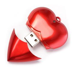 clé USB en forme de coeur