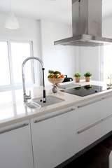 General view of contemporary home kitchen