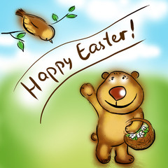 happy easter bear