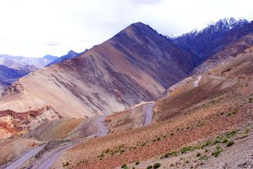Technicolor mountain landscape in Ladakh