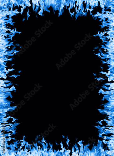 """""""Blue flame border"""" Stock photo and royalty-free images on ..."""