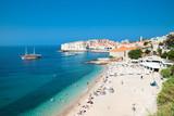 Fototapety Panoramic view on the beautiful beach in Dubrovnik