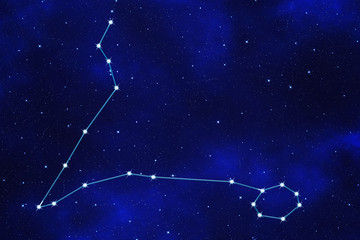 "Starfield background of zodiacal symbol ""Pisces"""