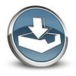 "Dark Blue 3D Style Icon ""Download"""