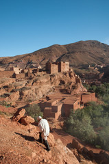 Hillside with an arabic fortress, Morocco