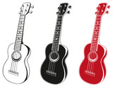 Illustration of soprano ukuleles