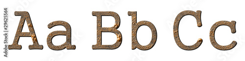 Textured characters set (letters ABC)