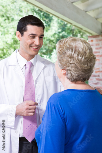Friendly doctor with a patient