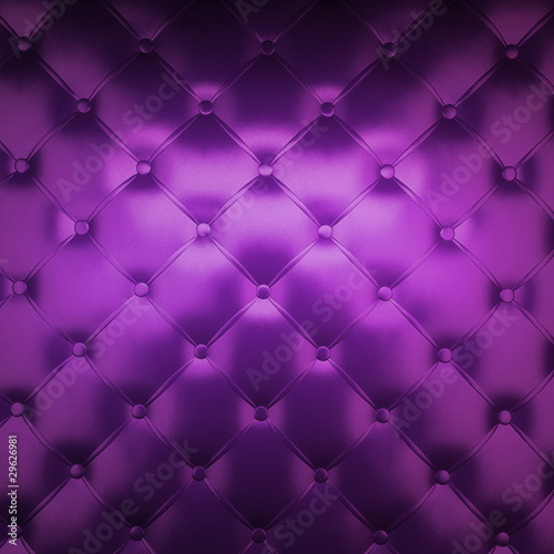 Fotobehang Leder Sepia luxury buttoned purple leather