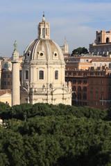 aerial view of Trajan's Column in Rome