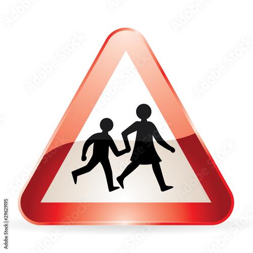 """Panneau de signalisation """"Attention Ecole"""""""