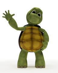 Tortoise Caricature Waving