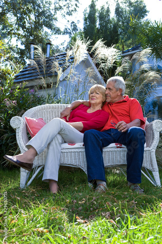 Elder couple relaxing