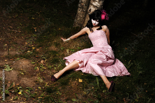 teen in the forest