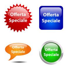 Bottoni Offerta Speciale # Vettoriale