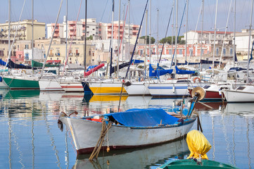 View of Bisceglie seaport. Apulia.