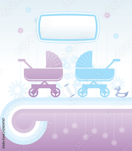 baby and children background - vector illustration
