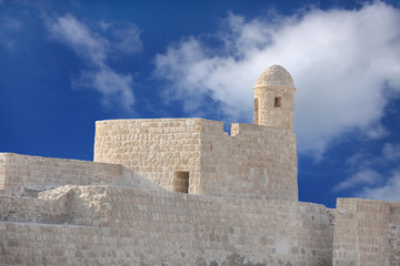 Bahrain fort watch tower in clear sky