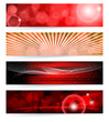 Set of abstract banners. Red Design.