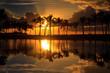 Fototapeten,hawaii,sonnenuntergang,tropisch,palme