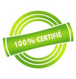 100 % certifié sur vignette verte poster