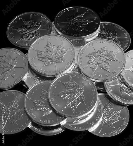 Silbermünzen Maple Leaf Kanada Geldanlage krisensicher
